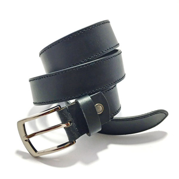 Ficuster Men Black Matte Finish PU Belt