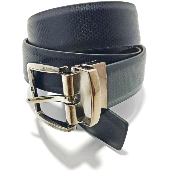 Ficuster Men Black Tan Reversible Genuine Leather Belt
