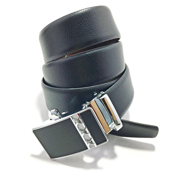 Ficuster Men Brown Black Autolock Reversible Leather Belt