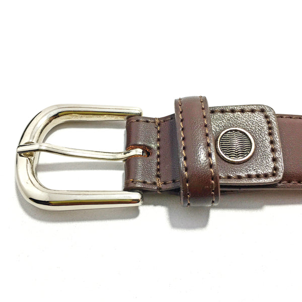 Ficuster Women Dark Brown Leather Belt