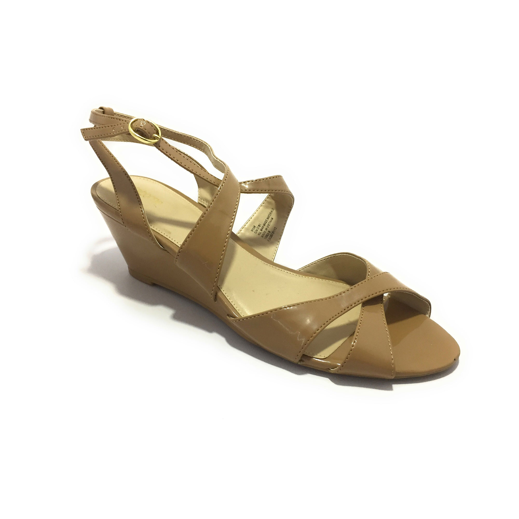 Ficuster Women Buckle Closure Wedges