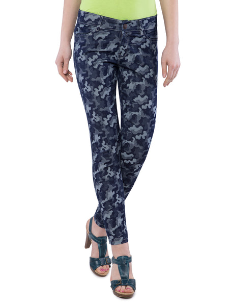 Ficuster Women Camouflage Print Slim Fit Jeans