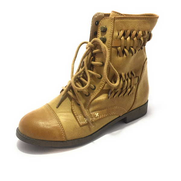 Ficuster Women High Top Leather Boots