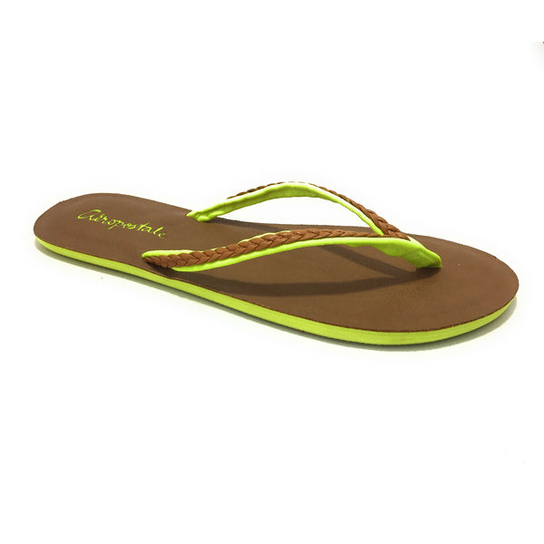 Aeropostale Women Brown Lime Slipper