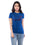 Ficuster Women Blue Crew Neck T-Shirt