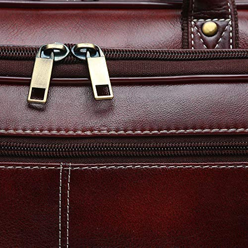 Ficuster Tan Genuine Leather Laptop Bag