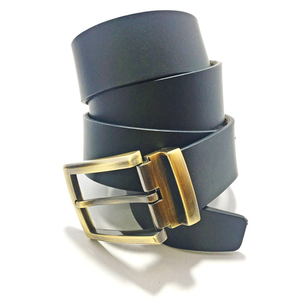 Ficuster Men Black Genuine Leather Belt