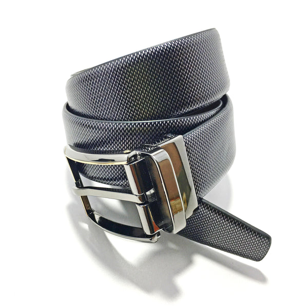 Ficuster Men Grey Textured Leather Belt
