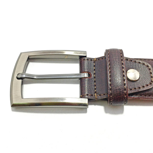 Ficuster Men Brown Leather Belt