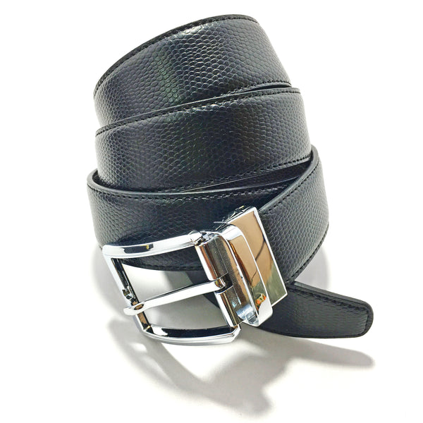 Ficuster Men Brown Black Reversible Leather Belt