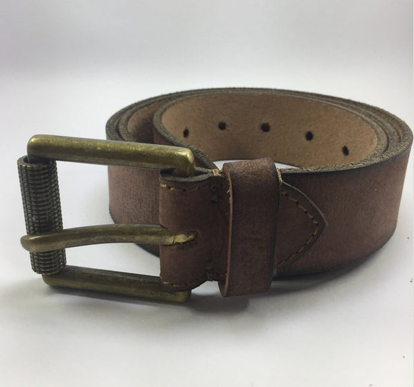 Ficuster Men Embossed Brown Leather Belt