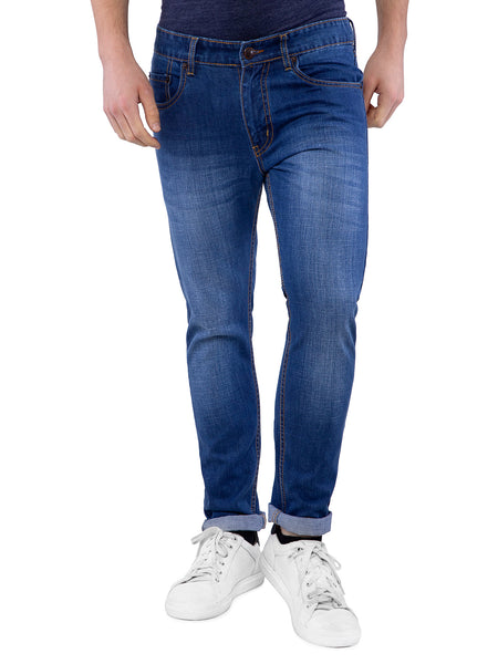 Ficuster Men Dark Blue Slim Fit Jeans