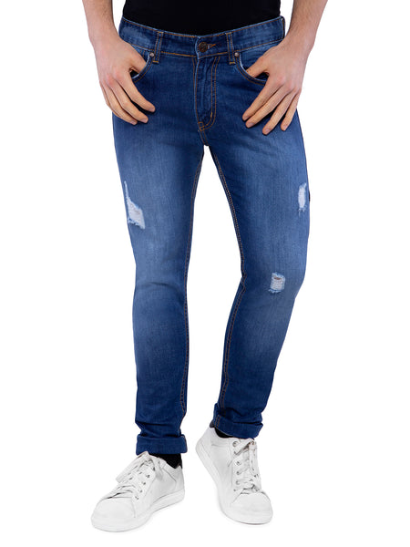 Ficuster Men Distressed Slim Fit  Jeans