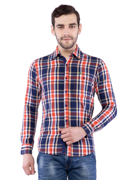 Ficuster Men Multicolored Checked Shirt