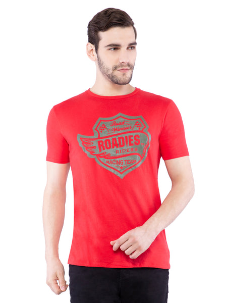Ficuster Men Graphic Print Red T-Shirt