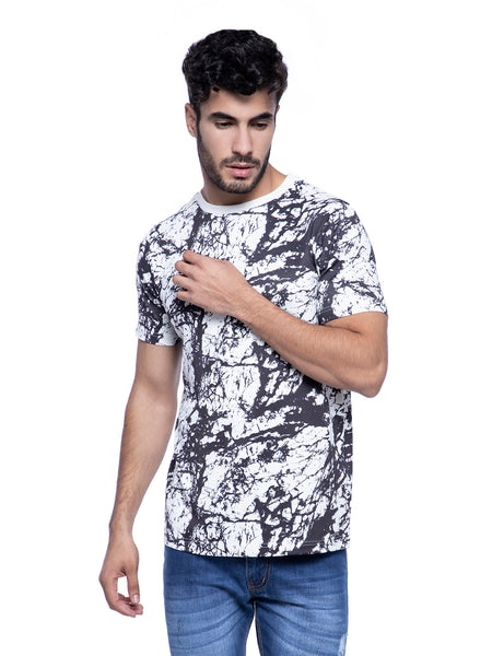 Ficuster Men White Printed White T-Shirt