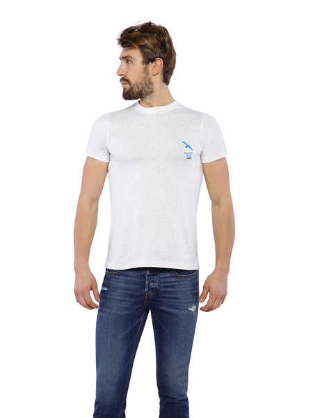 Ficuster Men White Crew Neck T-Shirt