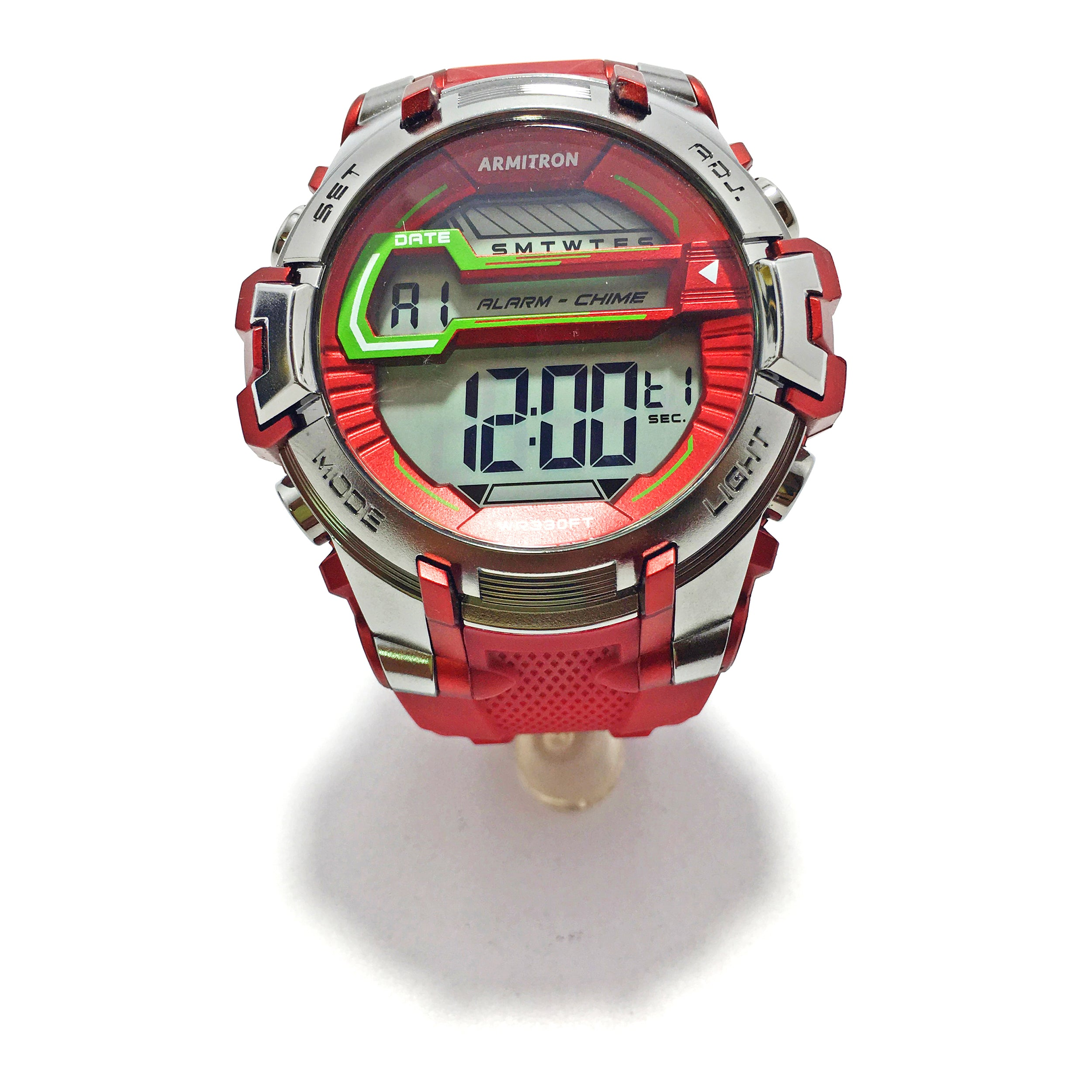 Armitron Men Maroon Digital Sports Watch
