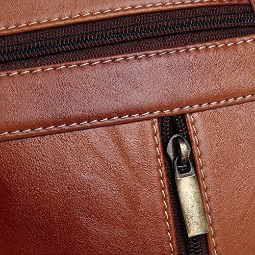Ficuster Brown Genuine Leather Sling Bag
