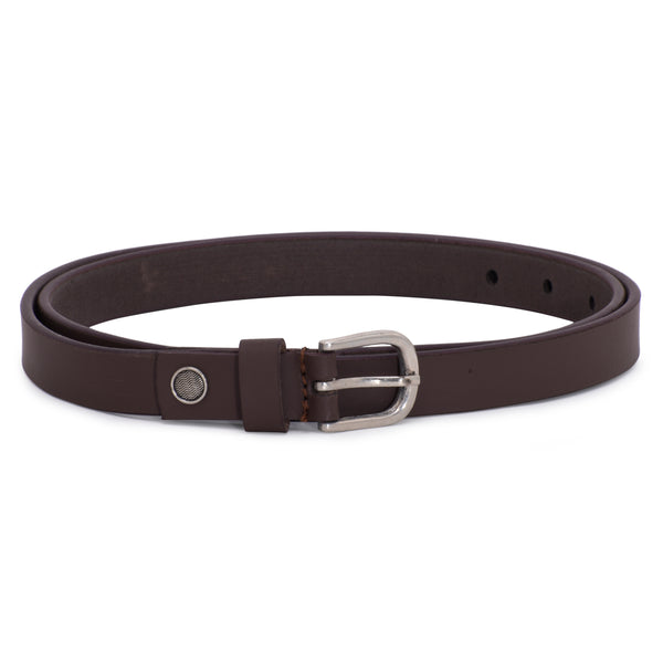 Ficuster Women Tan Solid Glossy Finish Leather Belt