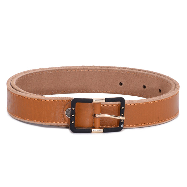Ficuster Women Brown Glossy Finish Leather Belt