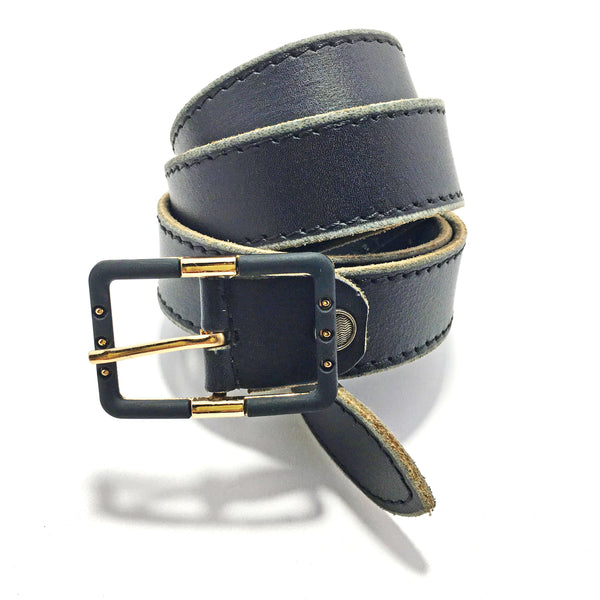 Ficuster Women Black Glossy Finish Leather Belt