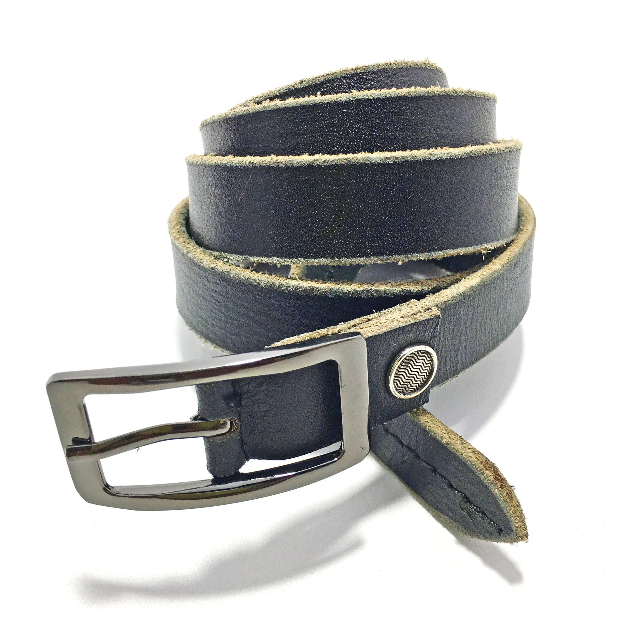 Ficuster Women Black Glossy Finish Genuine Leather Belt