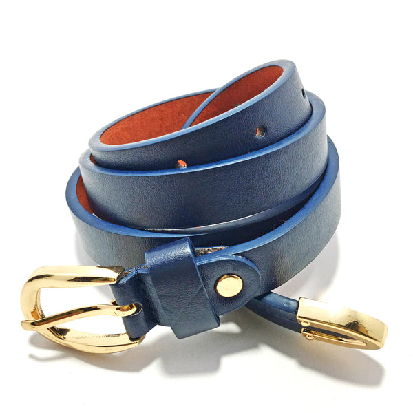Ficuster Women Blue Glossy Finish PU Belt