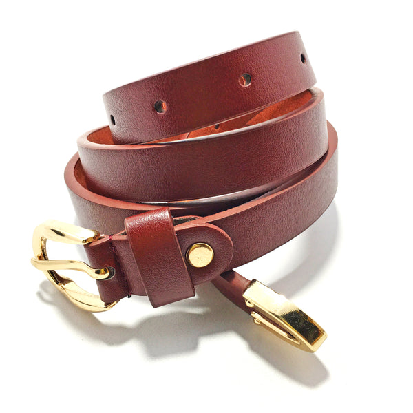 Ficuster Women Maroon Glossy Finish PU Belt