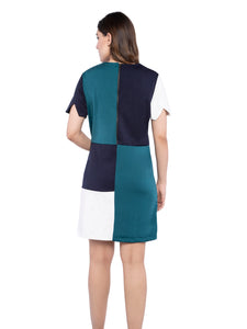 Ficuster Women Color Block Tunic Dress