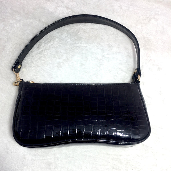 Ficuster Faux Leather Black Handbag