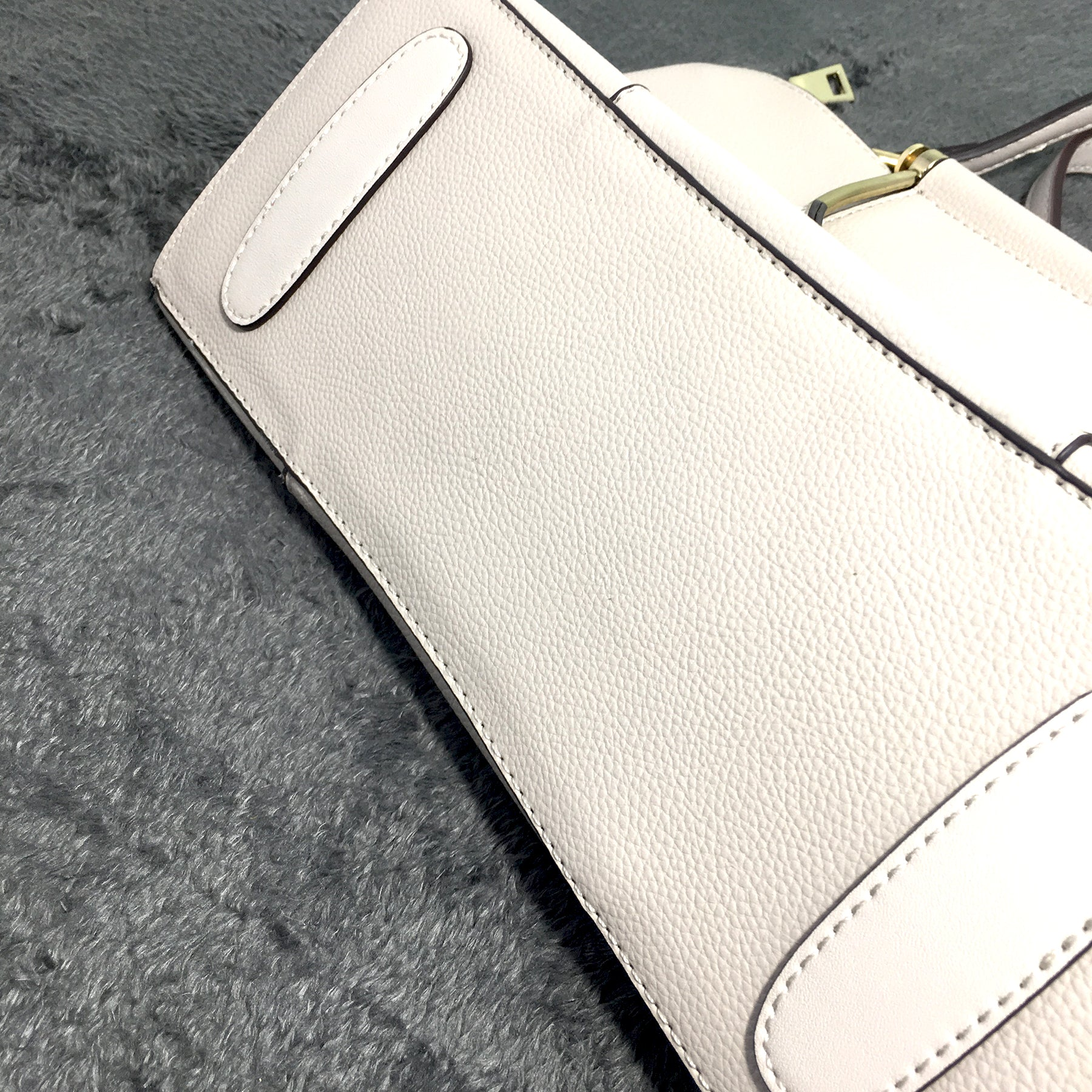 Ficuster Off White Solid Handbag