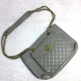 Ficuster Grey Solid Handbag