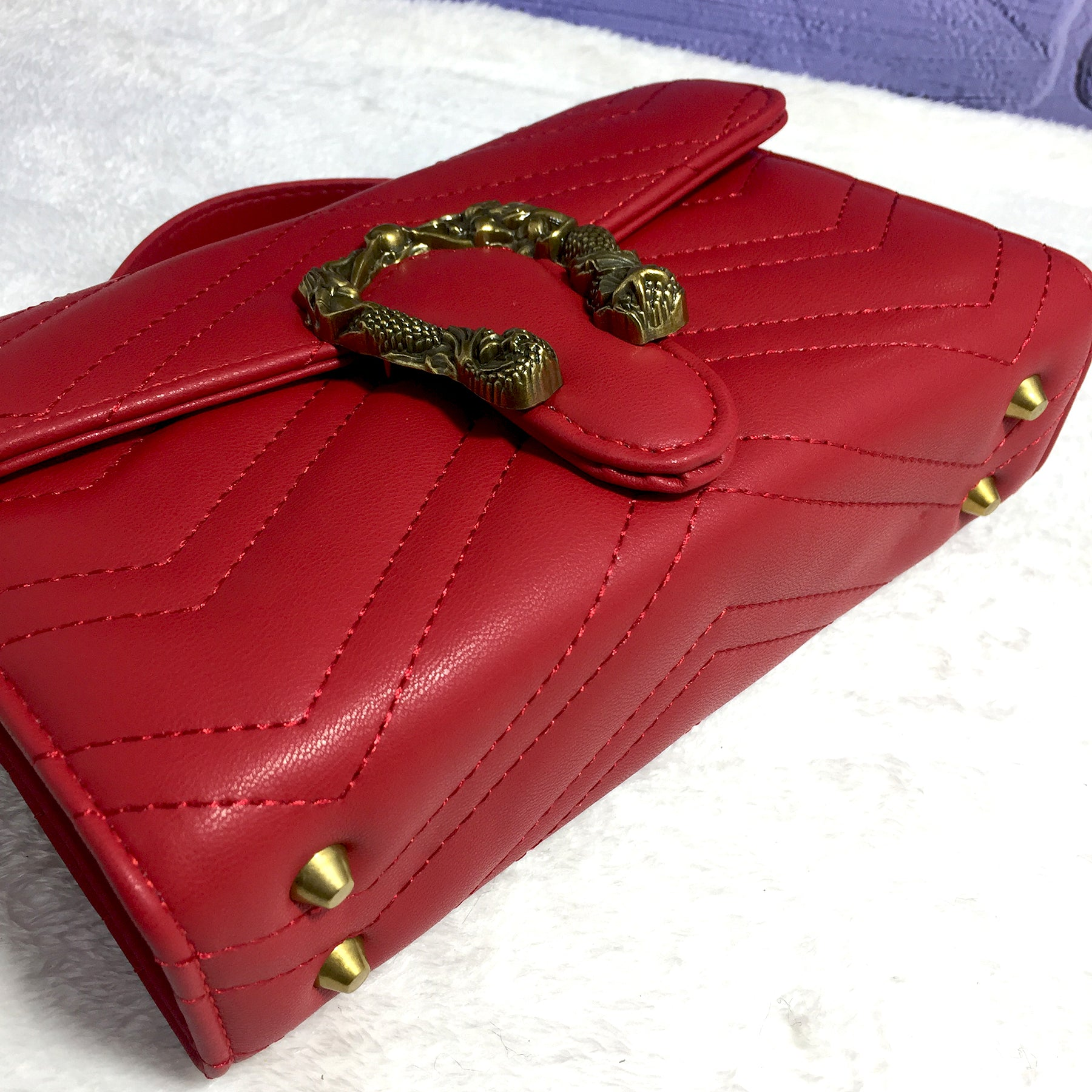 Ficuster Red Solid Sling Bag
