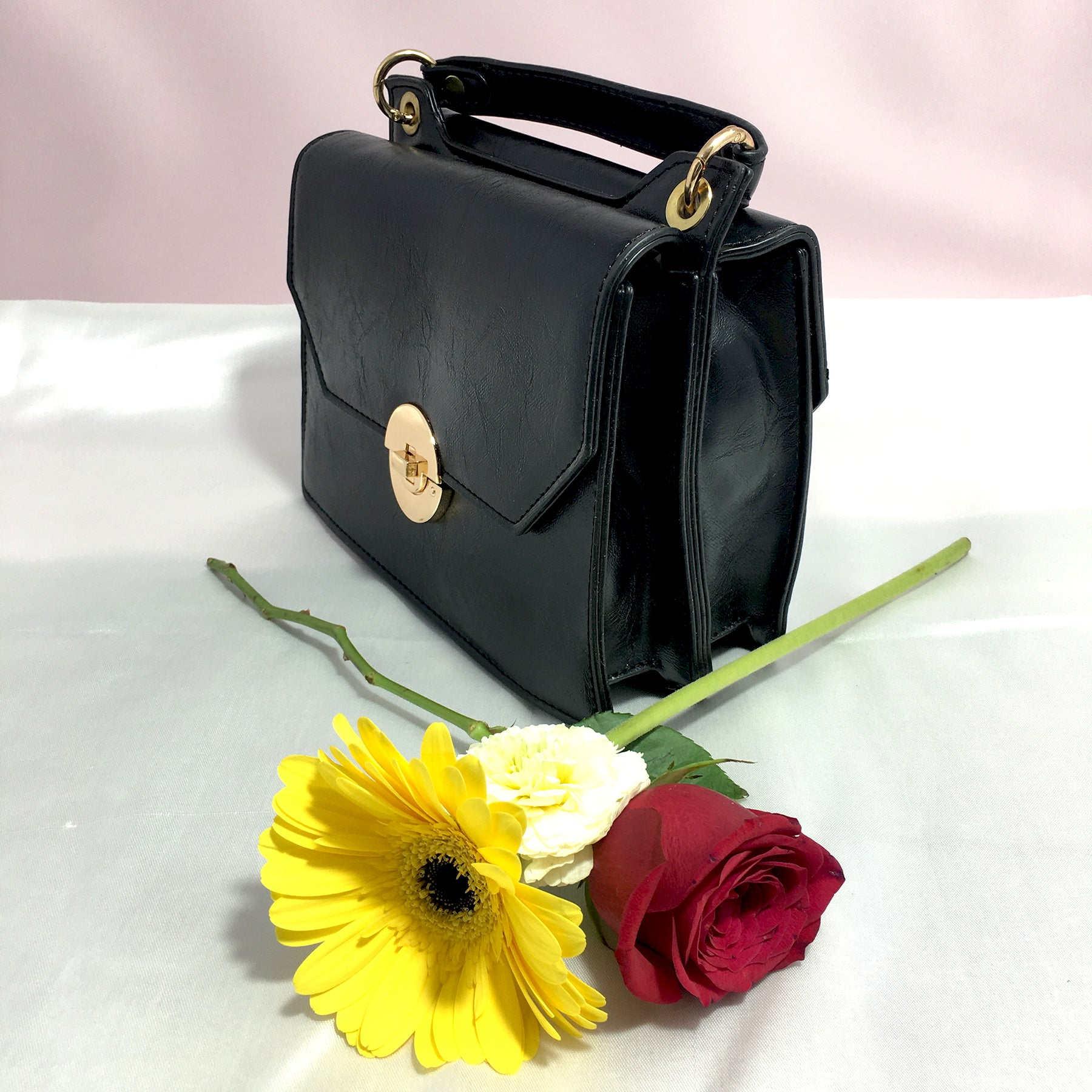 Ficuster Black Solid Sling Bag