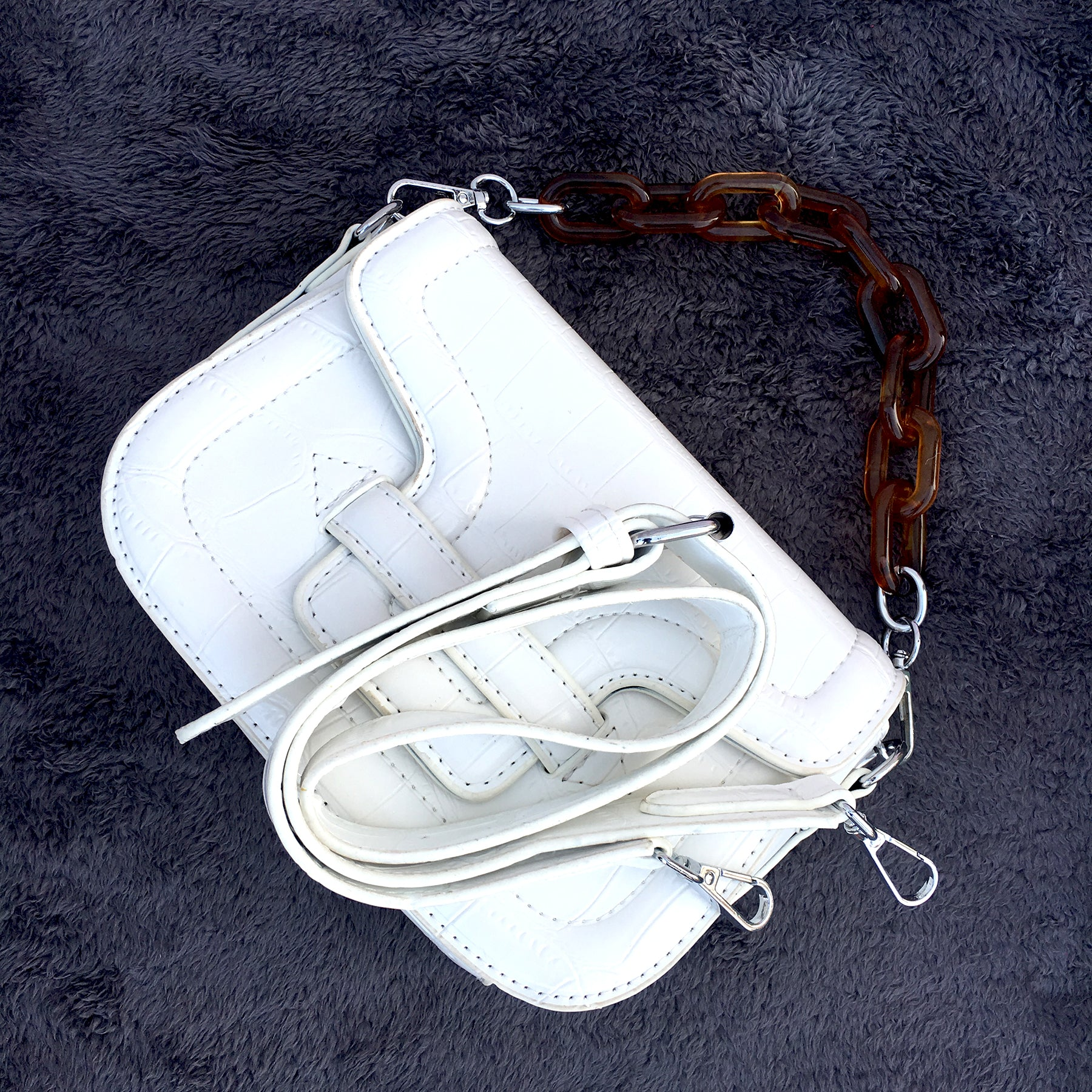 Ficuster White Sling Bag