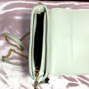 Ficuster White Solid Sling Bag