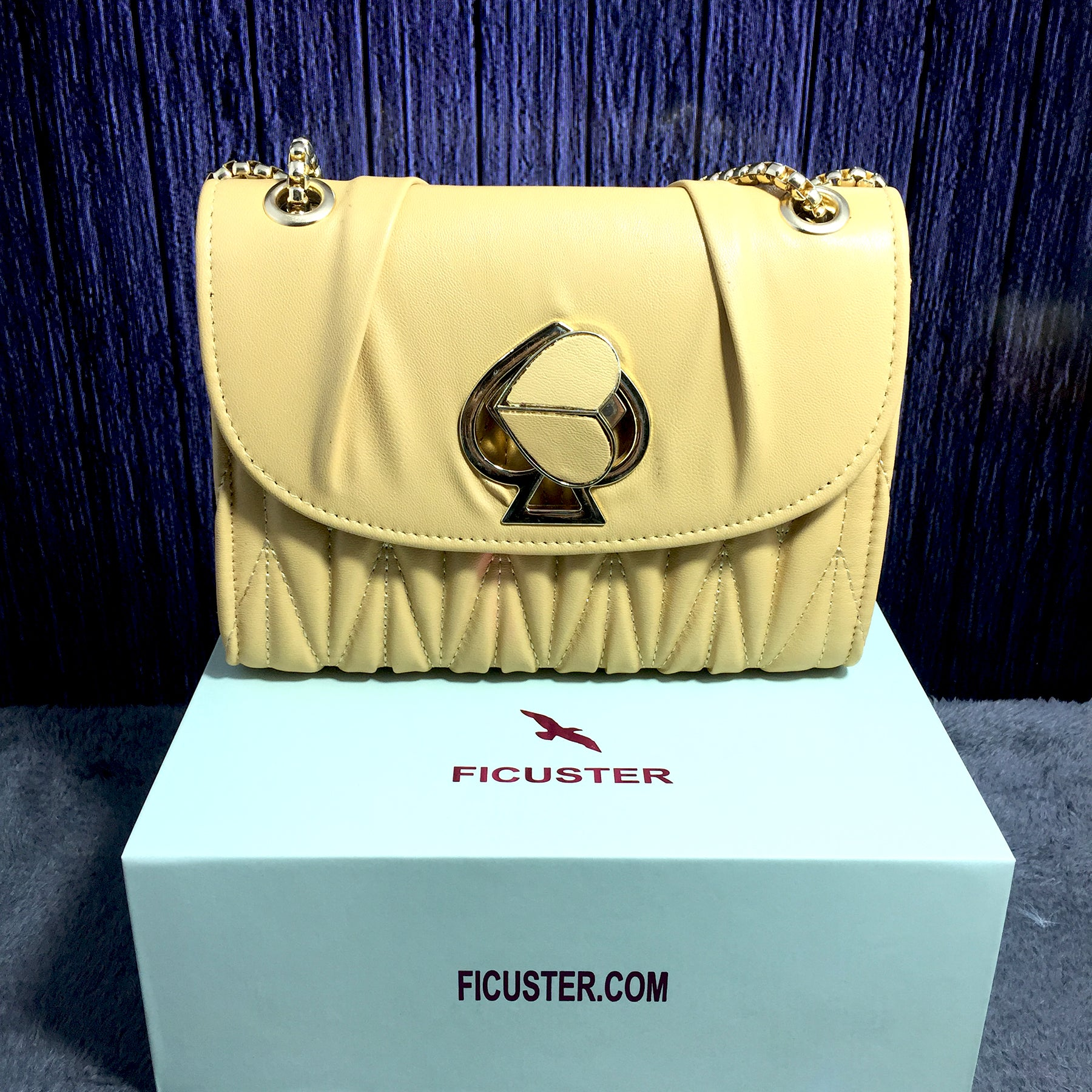 Ficuster Yellow Solid Sling Bag