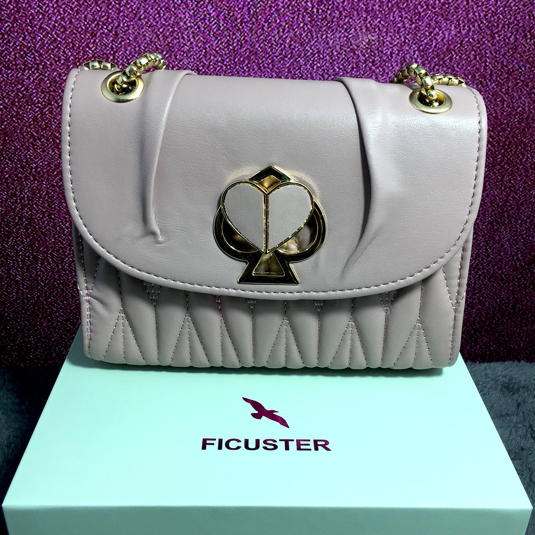 Ficuster Off White Solid Sling Bag