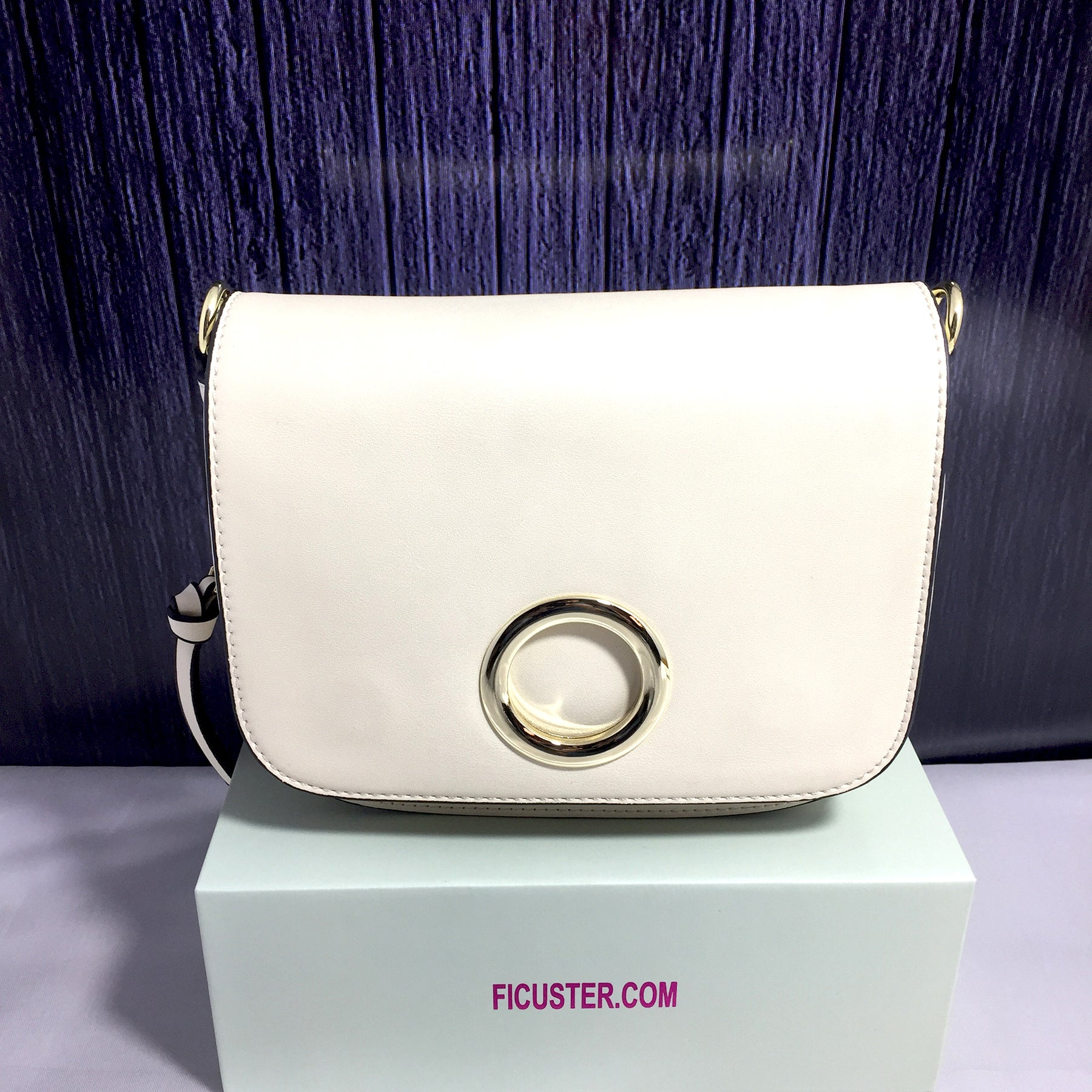 Ficuster Solid White Sling Bag