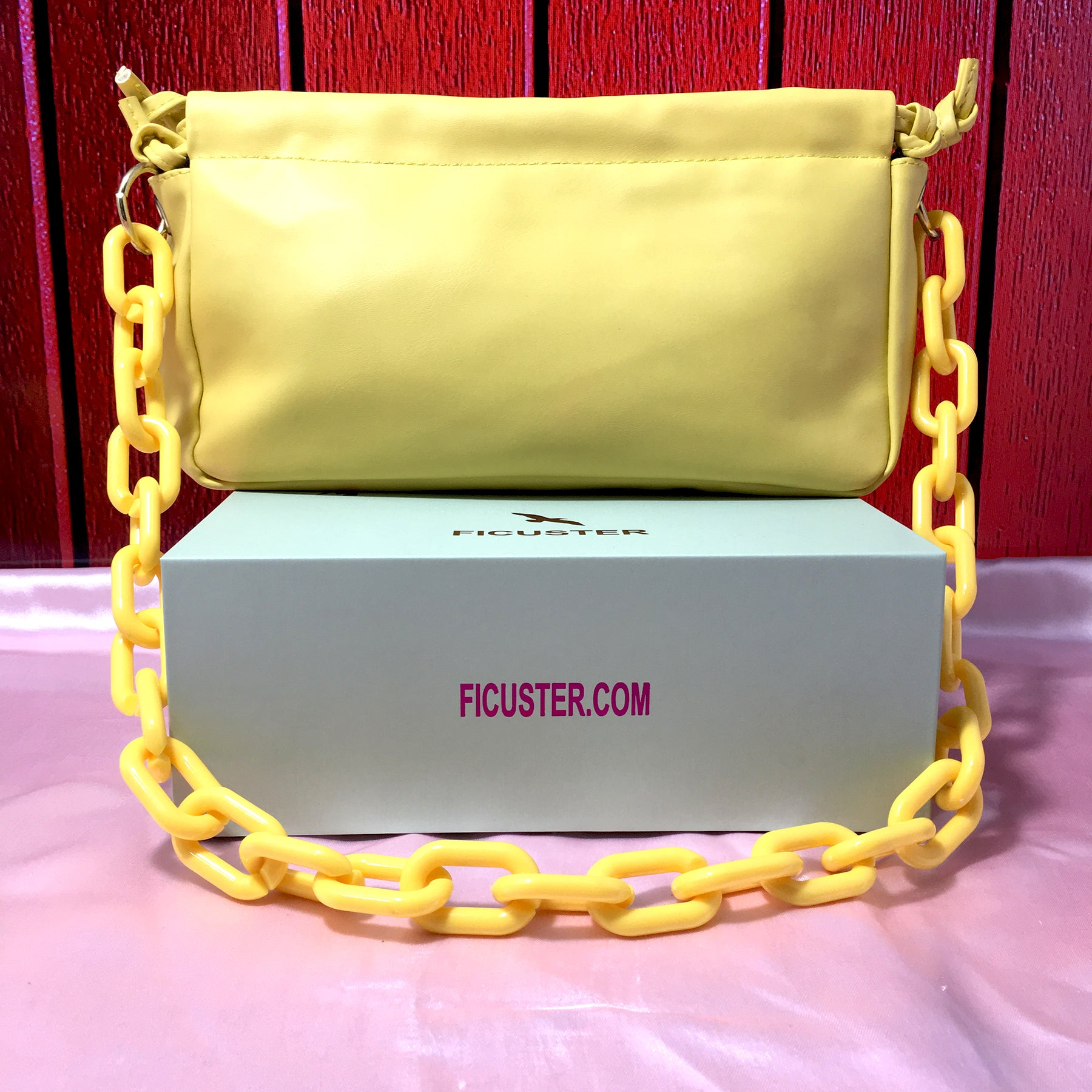 Ficuster Solid Yellow Sling Bag