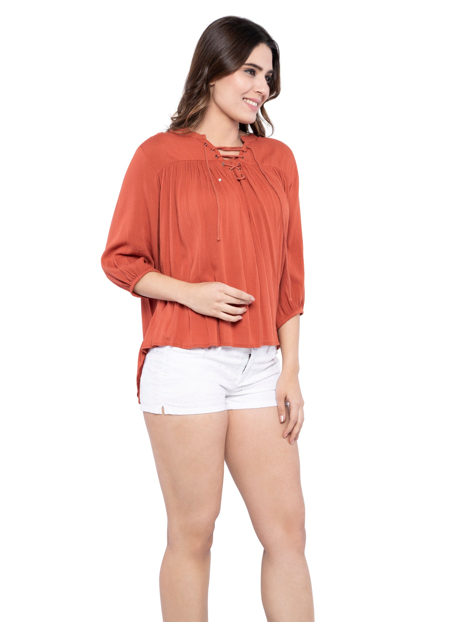 Ficuster Women Swing Brown Top