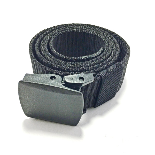 Ficuster Unisex Black Plastic Buckle Nylon Canvas Braided Belt