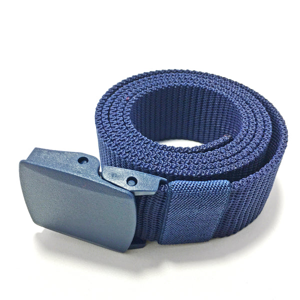 Ficuster Unisex Blue Plastic Buckle Nylon Canvas Braided Belt