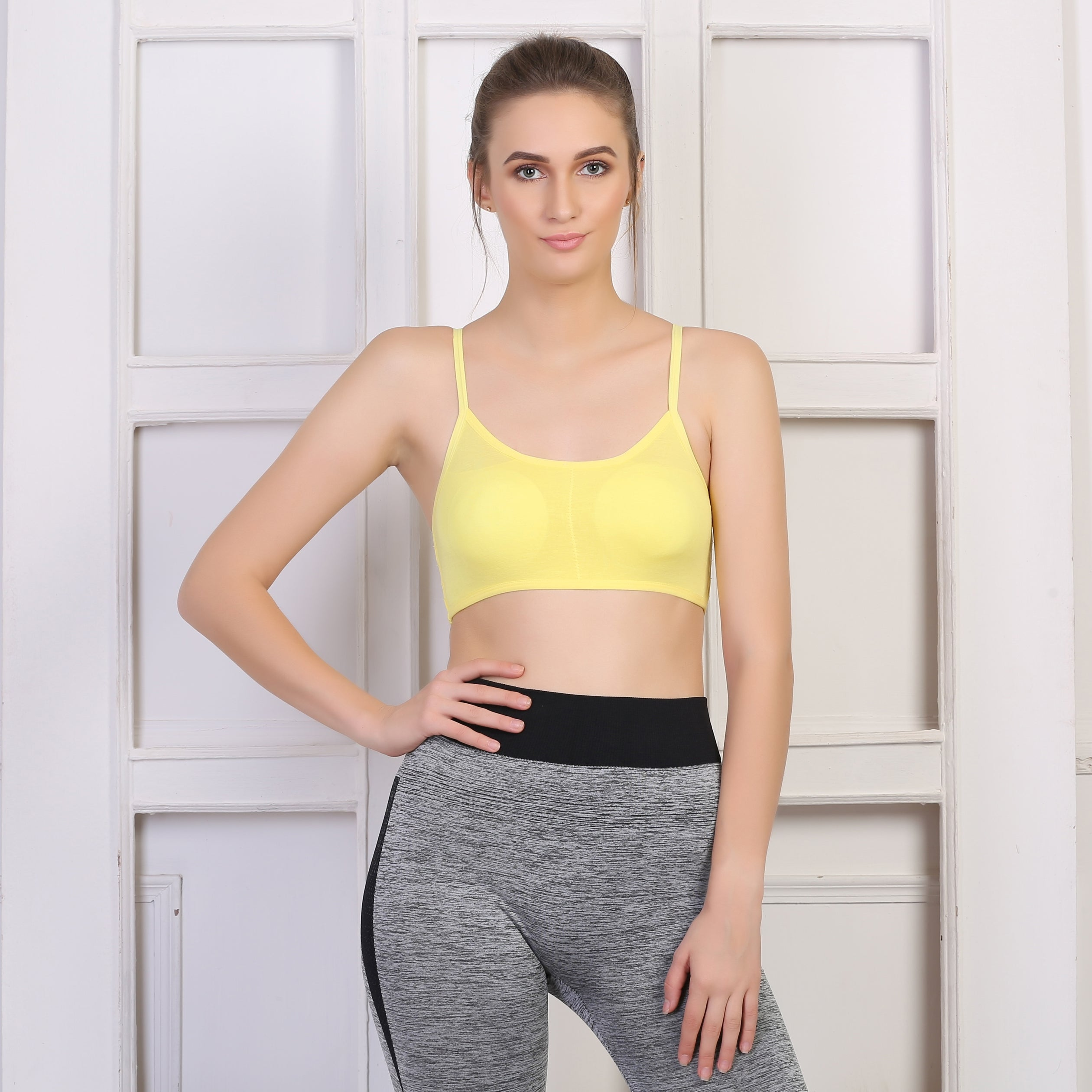 Ficuster Stretchable Removable Pad Sports Bralette