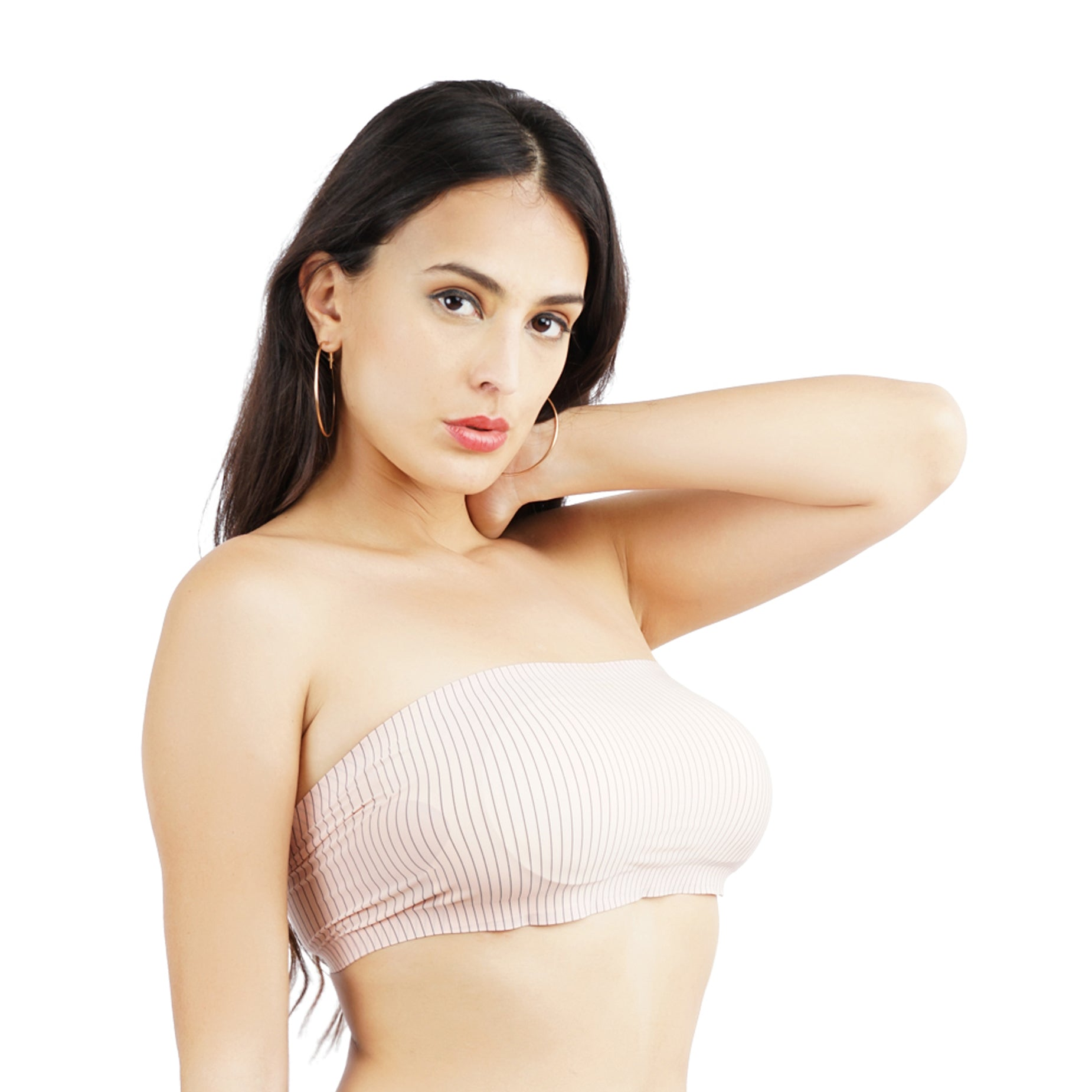 Ficuster Strapless Breathable Bandeau Tube Beige Bra