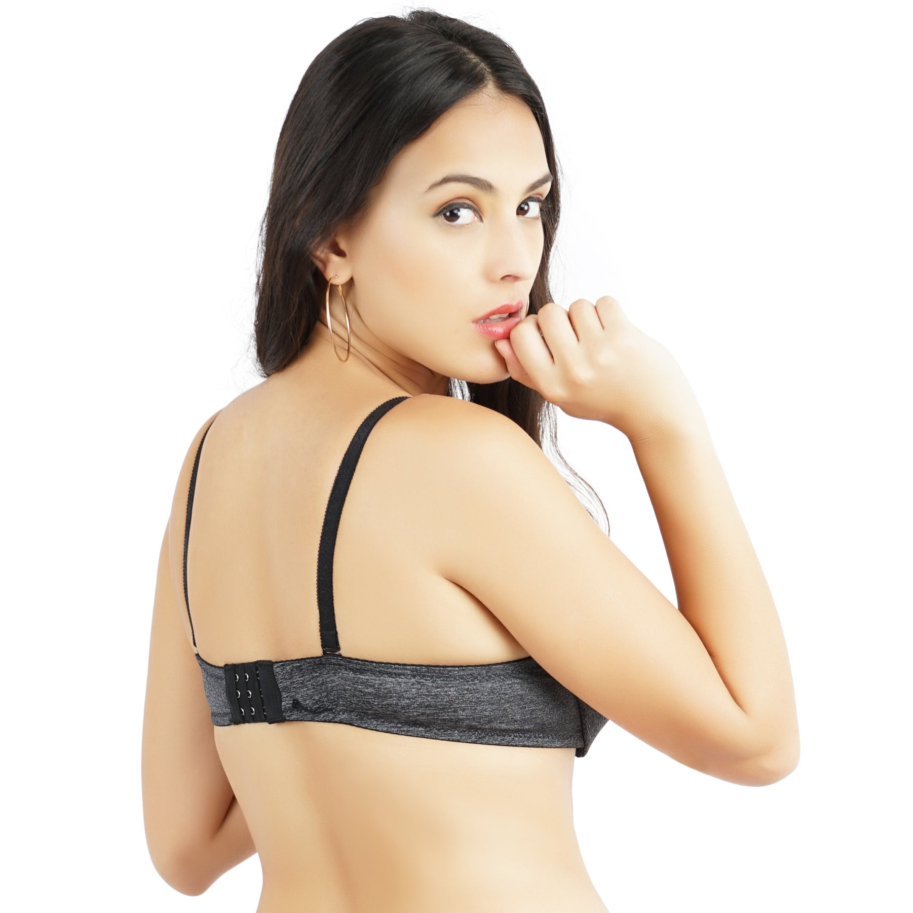 Ficuster Wired Black Push Up Bra