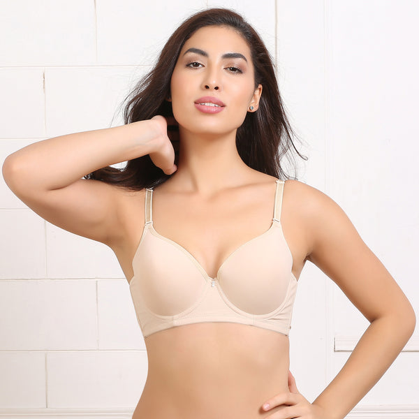Ficuster Wired Beige Push Up Bra
