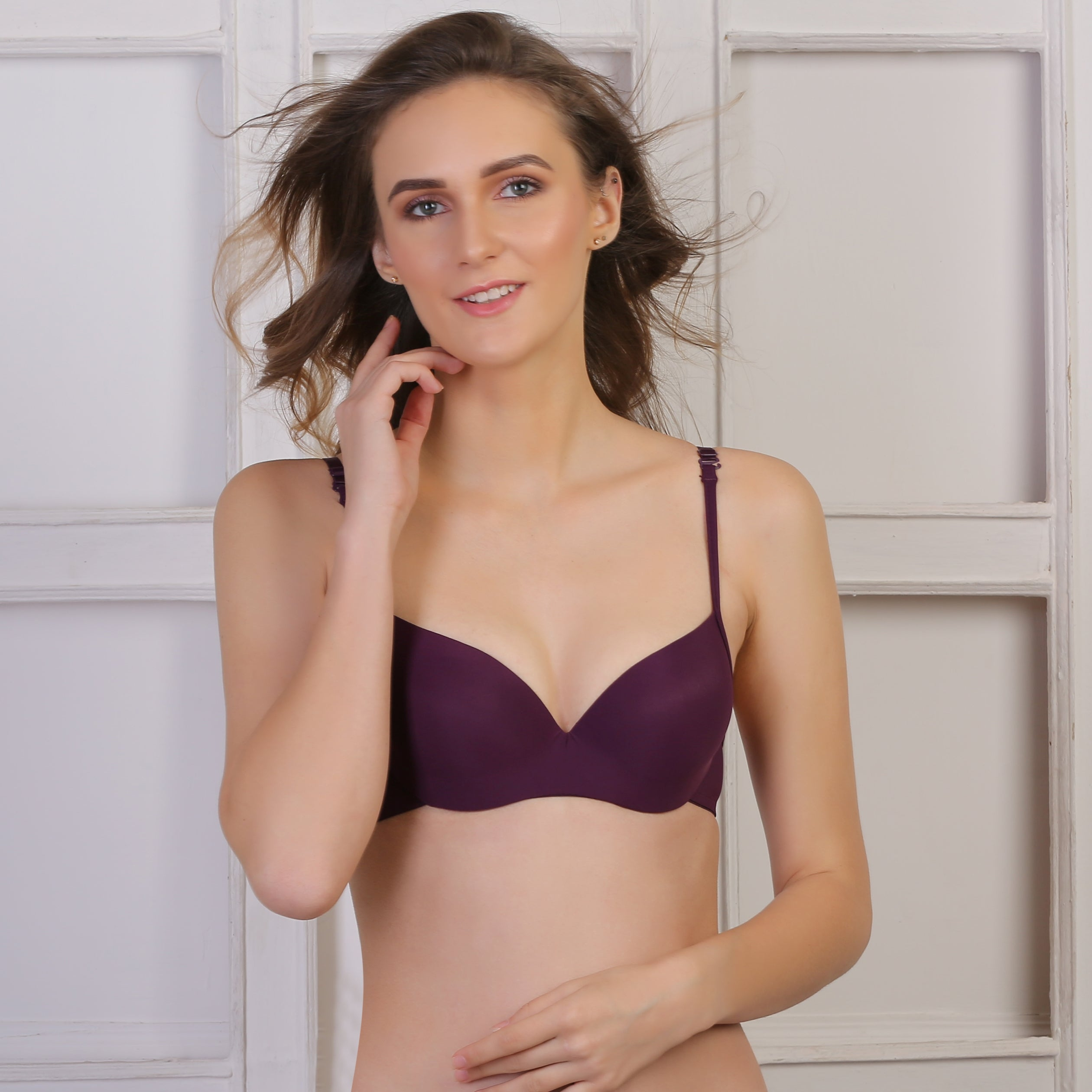 Ficuster Wired Burgundy Push Up Bra