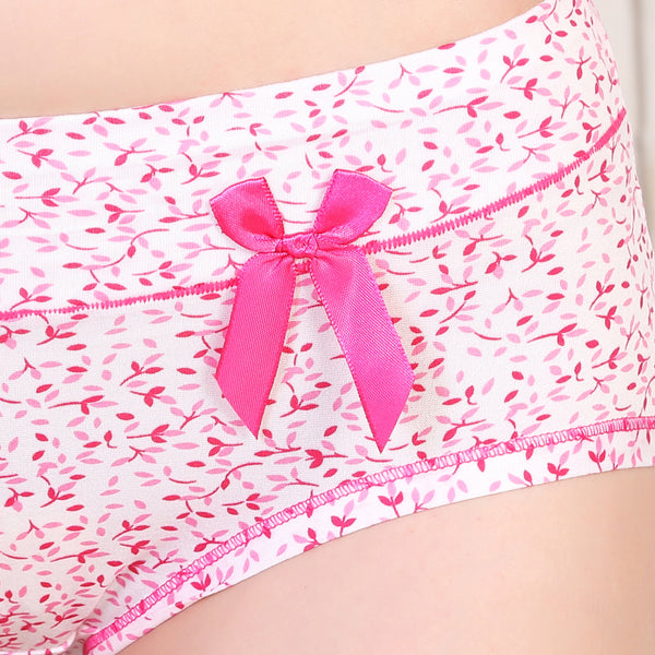 Ficuster Pink Printed High Rise Hipster Panty